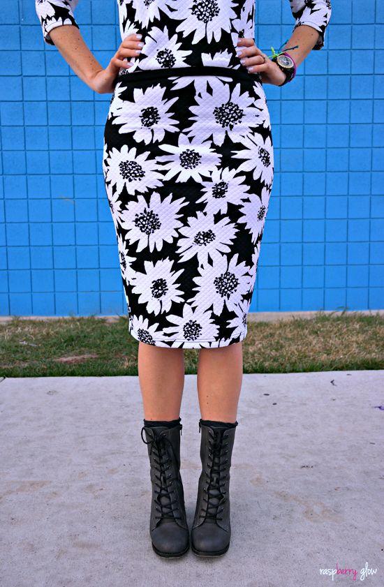 midi dress with combat boots
