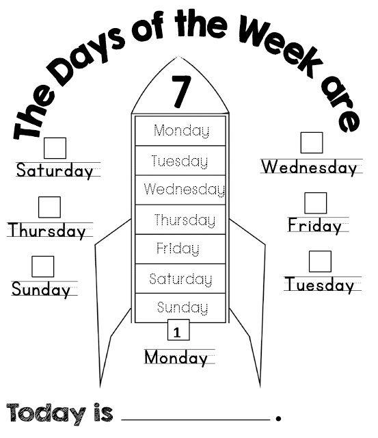 Enjoy Teaching English: Days of the Week (coloring