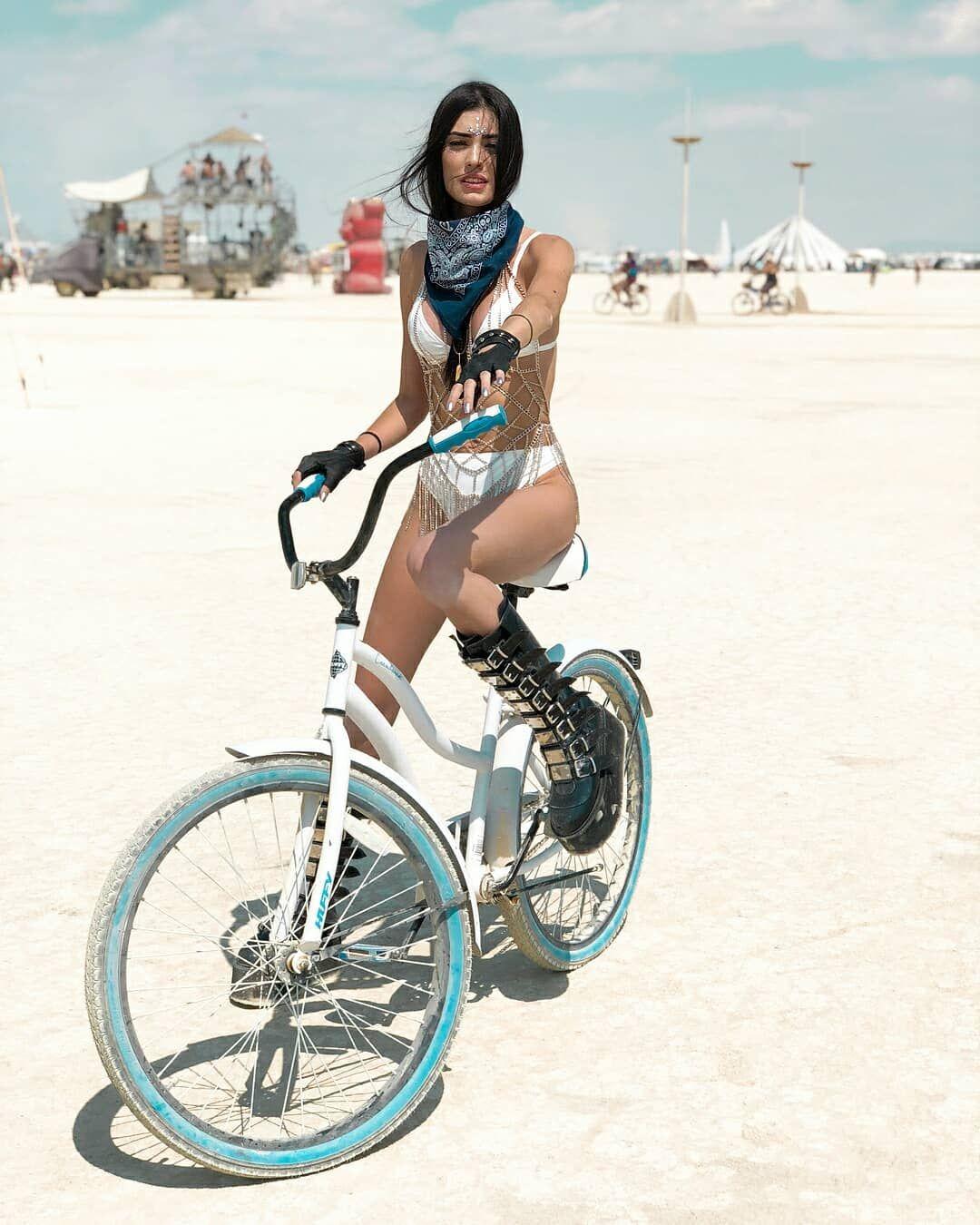 Biking babes biking burning man — img 13