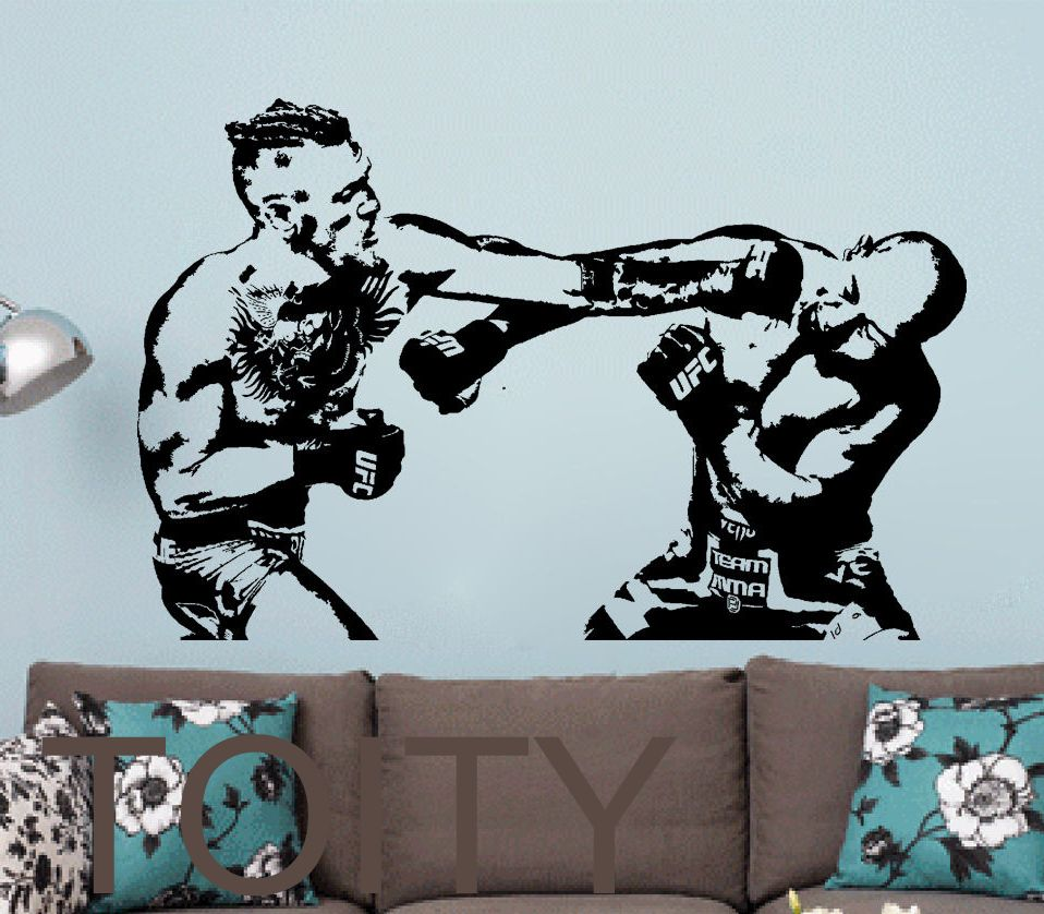 Conor Mcgregor Wall Sticker Mma Fight Boxing Vinyl Decal Ufc Giant