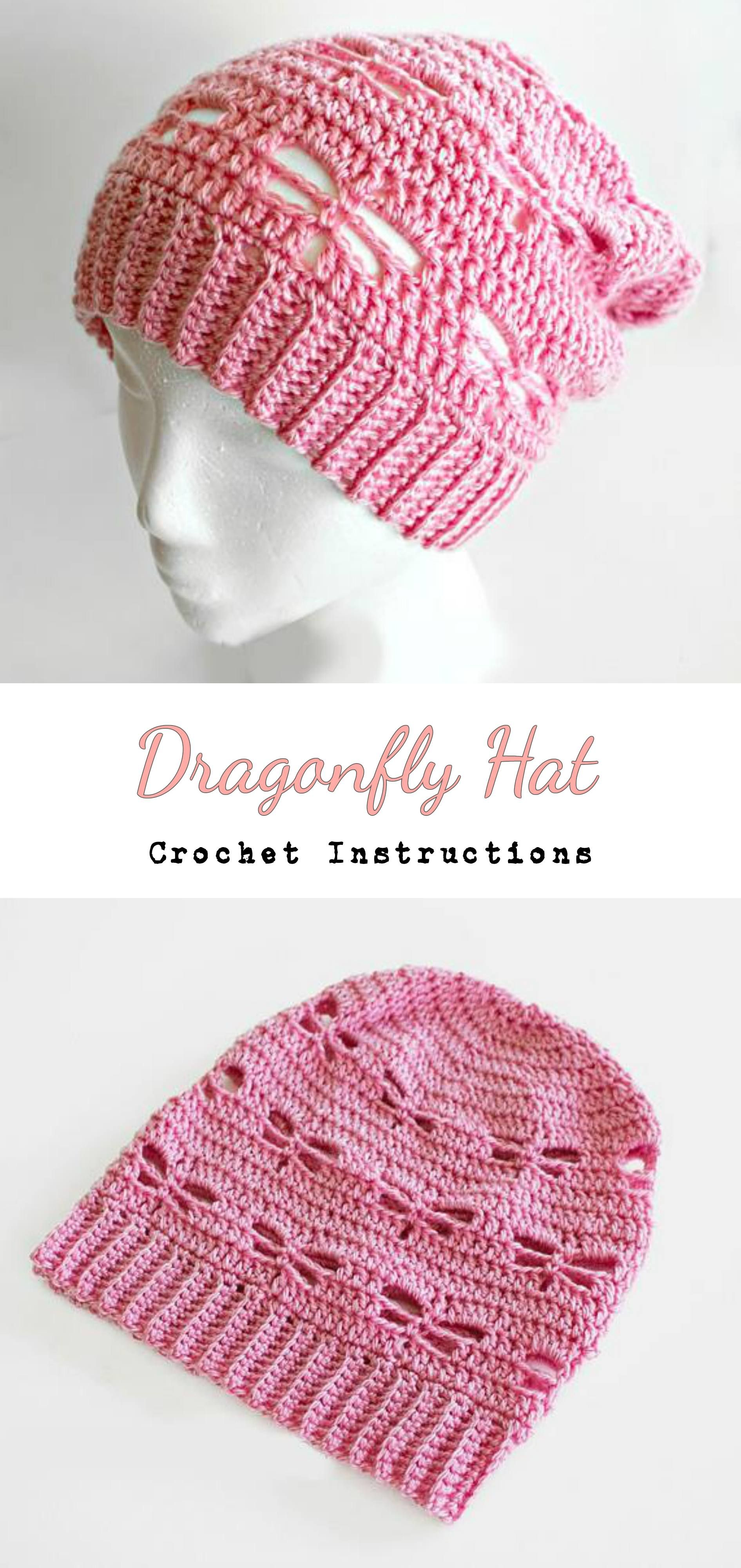 Crochet Dragonfly Hat | Crochet ideas | Pinterest | Gorros, Capuchas ...
