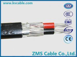 Two Cores Aluminum Aluminium Alloy Split Concentric Cables Power Cable Cable Power