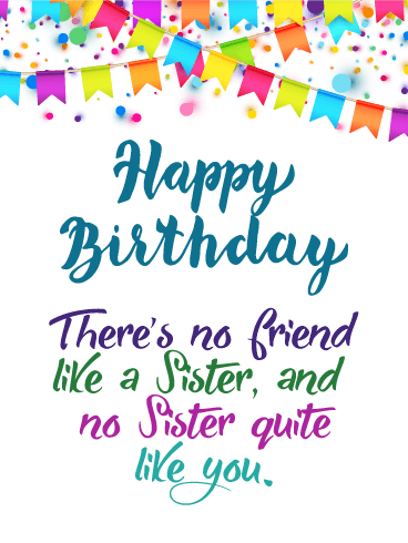 Marvelous This Wonderful Happy Birthday Card Will Really Touch Your Sister Funny Birthday Cards Online Fluifree Goldxyz