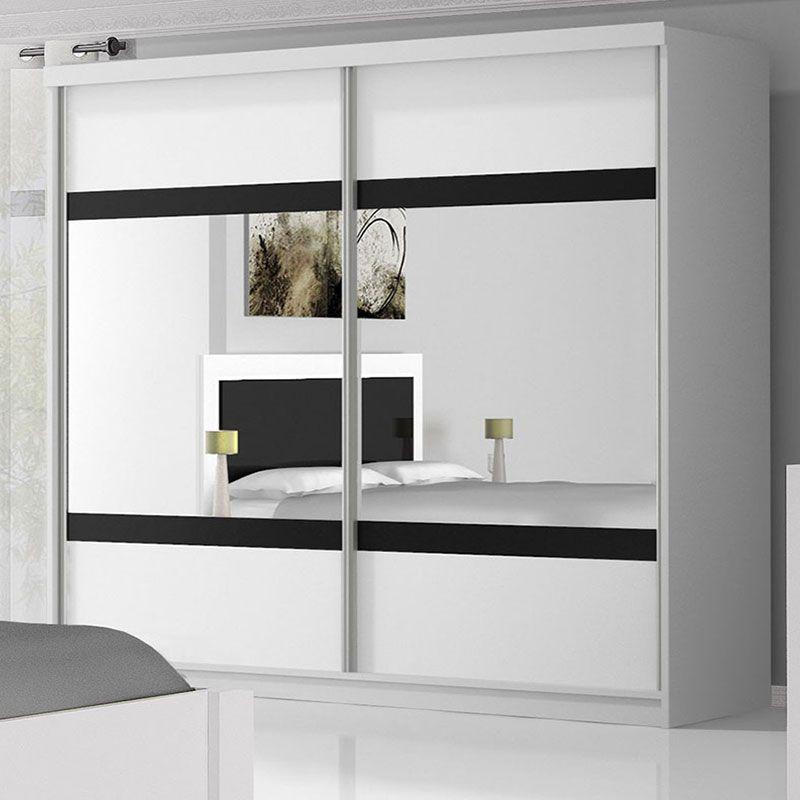 Armoire noire et blanche laqué design ELINE | Meubles chambre ...