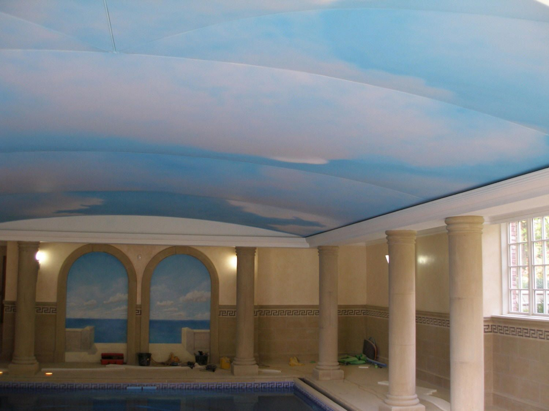 SKY PAINTED ON TO STRETCH CEILING S.jpg (1500×1125)   Bathroom Inspirations    Pinterest   Ceilings and Bathroom inspiration - SKY PAINTED ON TO STRETCH CEILING S.jpg (1500×1125) Bathroom