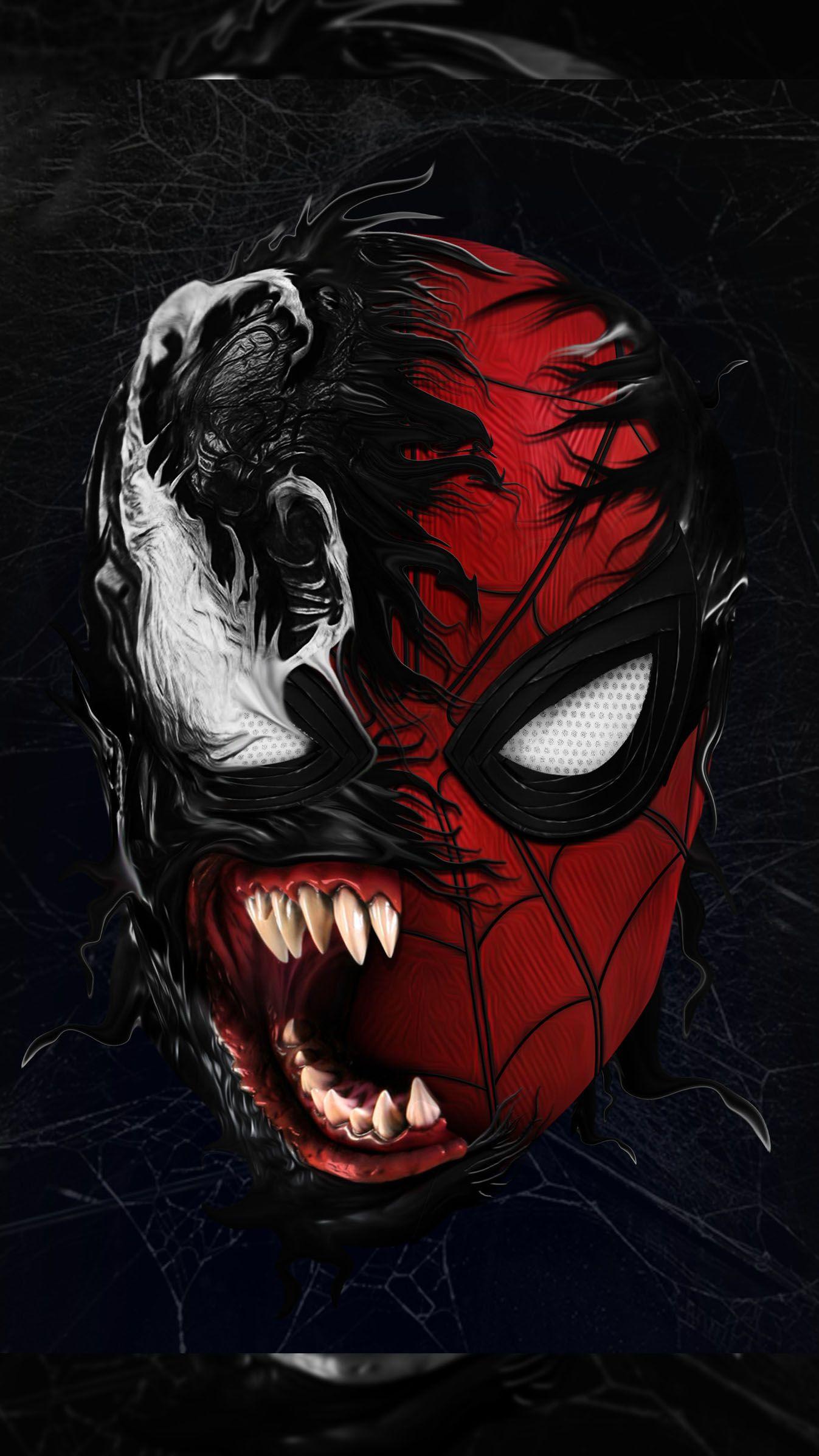 Spidey Venom Iphone Wallpaper Venom Spiderman Black Panther Art Spiderman
