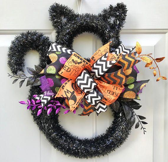 Halloween Black Cat Door Hanger, Halloween Decor, Cat Decor, Door