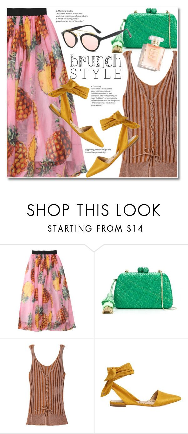 """Mother's Day Brunch Goals"" by svijetlana ❤ liked on Polyvore featuring Serpui, Sam Edelman, zaful and brunchgoals"