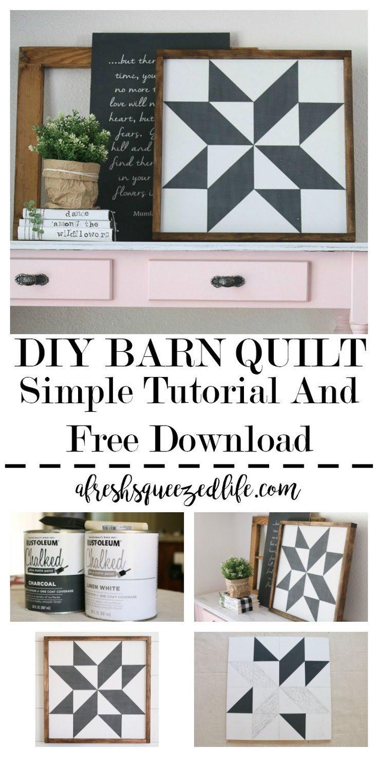 BARN QUILT TUTORIAL | Crafts & DIY~ Home Decor ~ Gardening ...