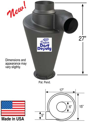 Super Dust Deputy Dimensions