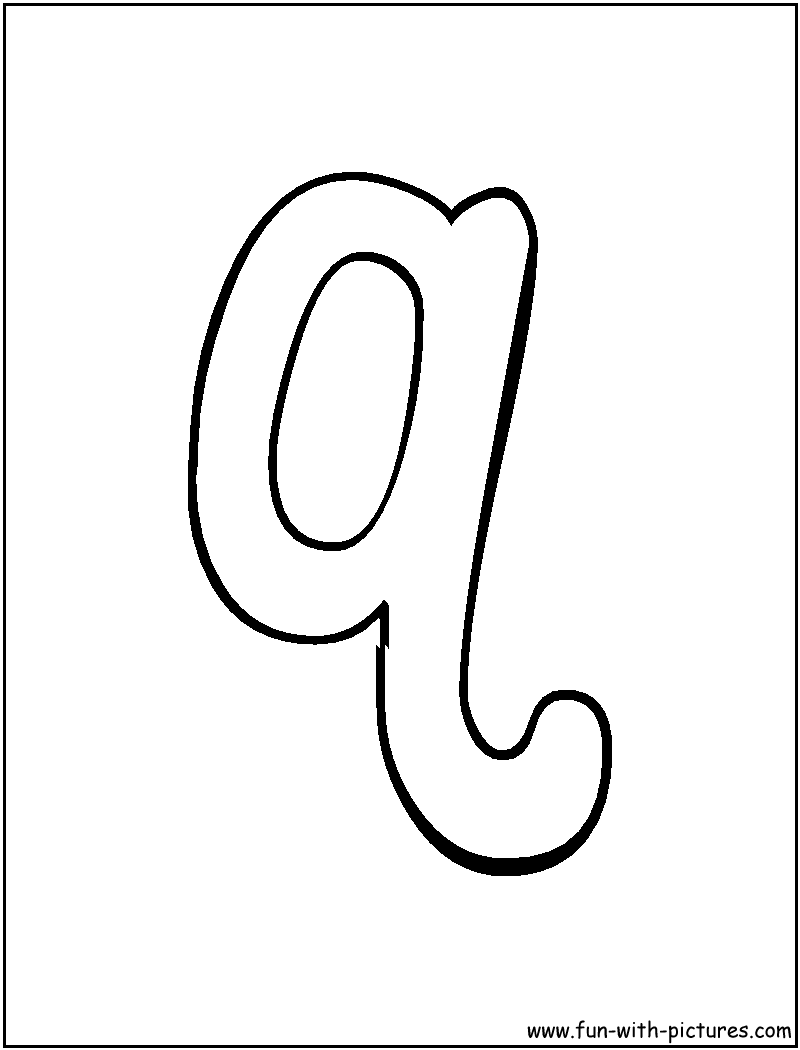 Letter Q Coloring Page to print DIY Pinterest Bubble letters