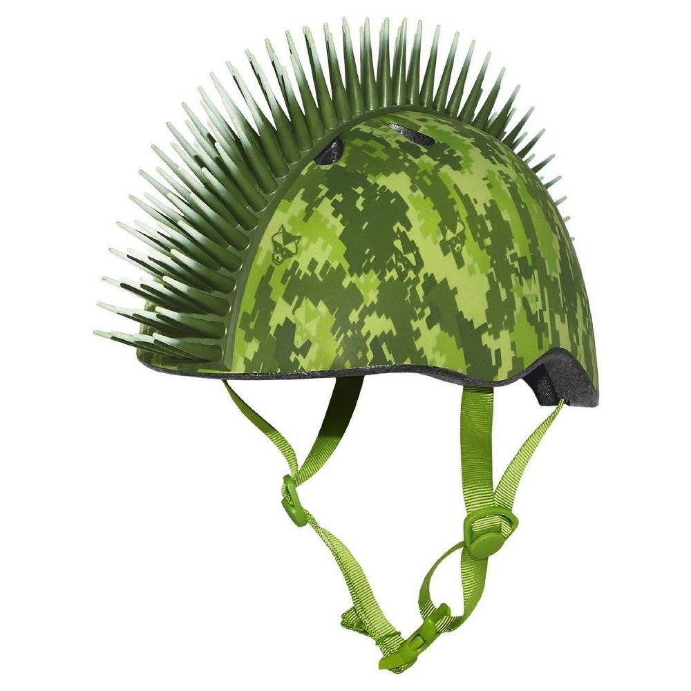Raskullz d digital camo mohawk child helmet green products