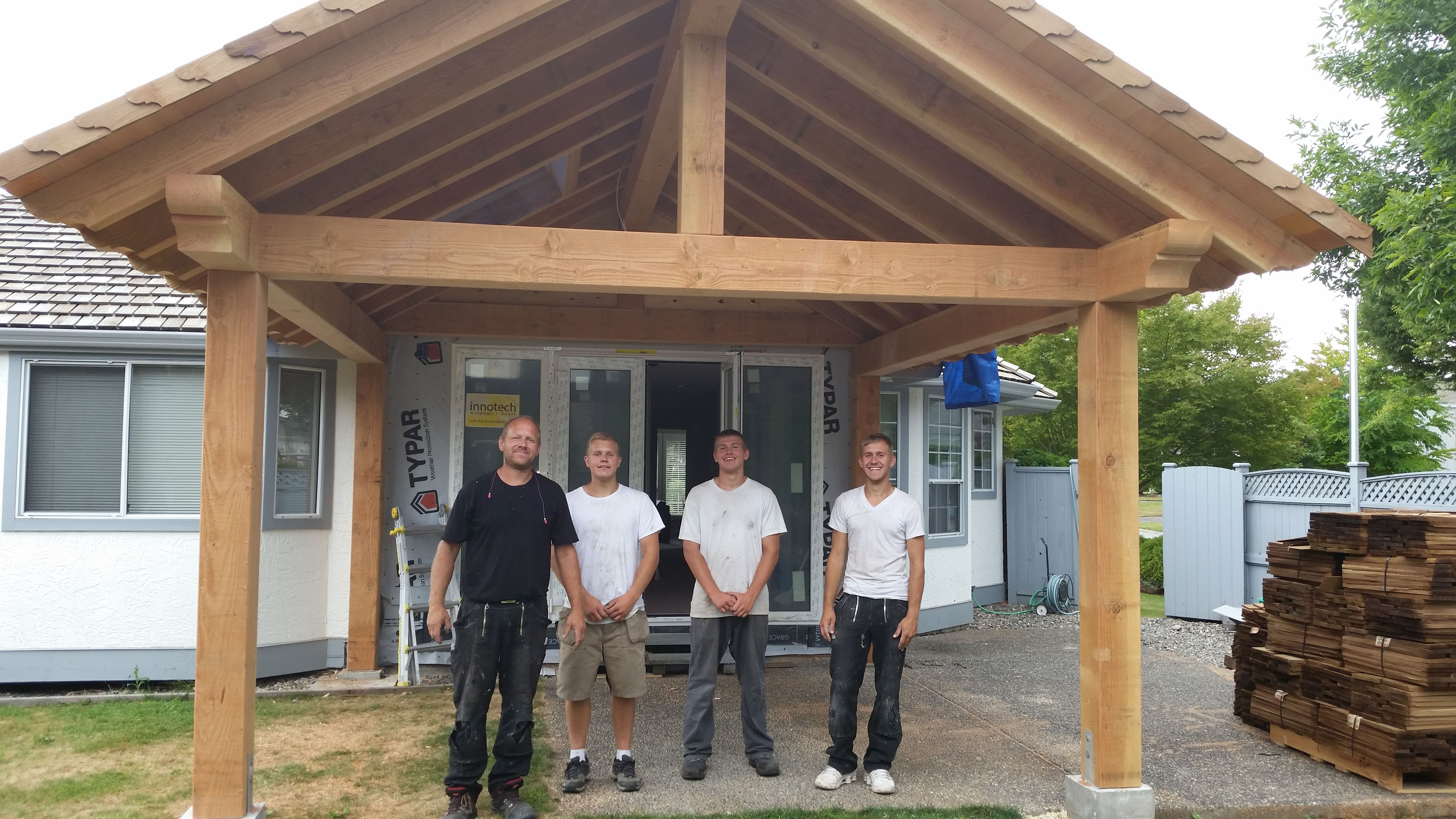 Timber Patio Cover Gazebo Awning Frame