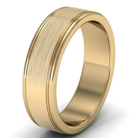 Men S Wedding Bands Ring Yellow Gold