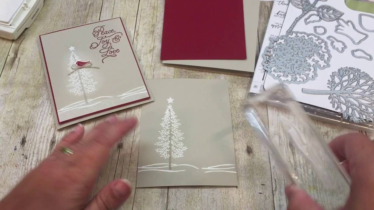 how to make a christmas card with stampin up's thoughtful