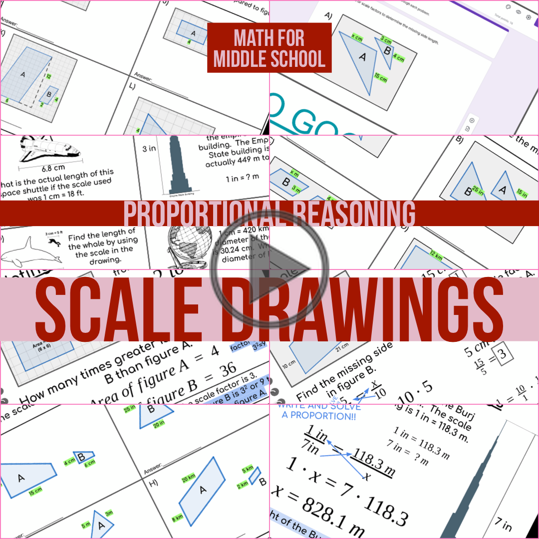 Proportional Reasoning Scale Drawings In