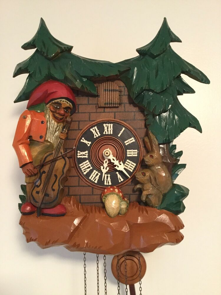 This Is A Rare Black Forest Cuckoo Clock Musical With Animation Marked Made In Germany All Animation Including Cuckoo Bird And Man P Cuckoo Clock Cuckoo Clock