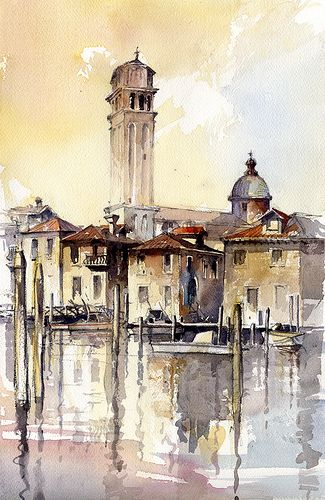 Venice Winter With Images Watercolor Architecture Watercolor