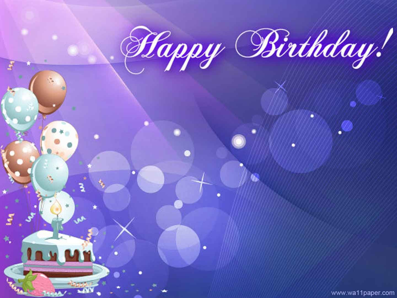 birthday wishes purple happy birthday blue cake wallpaper birthday happy birthday. Black Bedroom Furniture Sets. Home Design Ideas