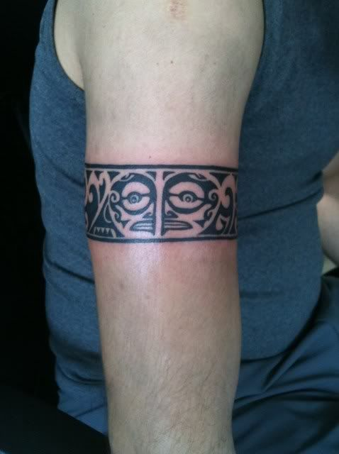 Maori Tattoo Shop: Maori Arm Band 1st Session « The Tattoo Shop