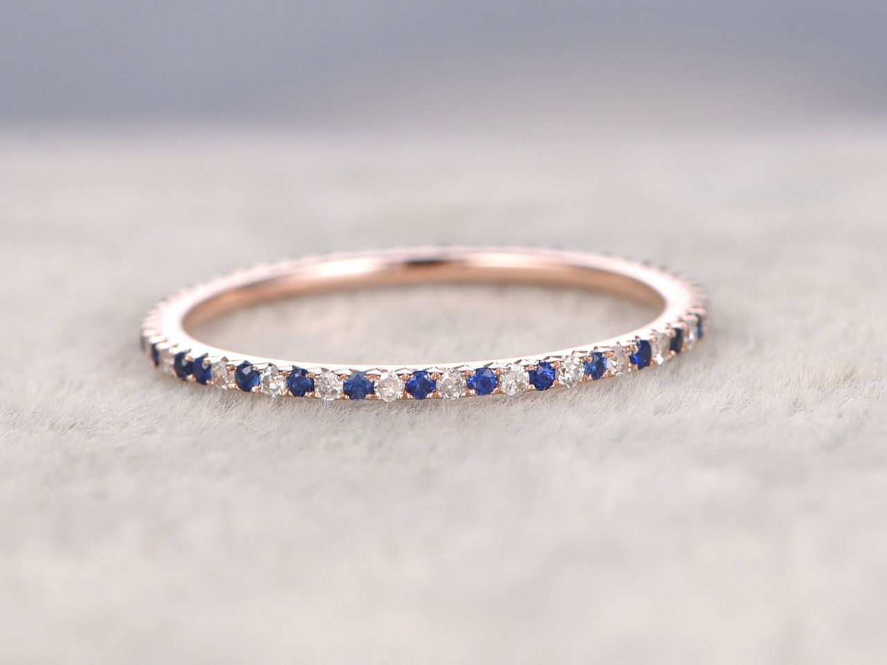 BBBGEM Offers Sapphire Wedding Ringssee Our Diamond Bands In Rose Goldwhite Gold Or Yellow GoldAll Can Be Matching