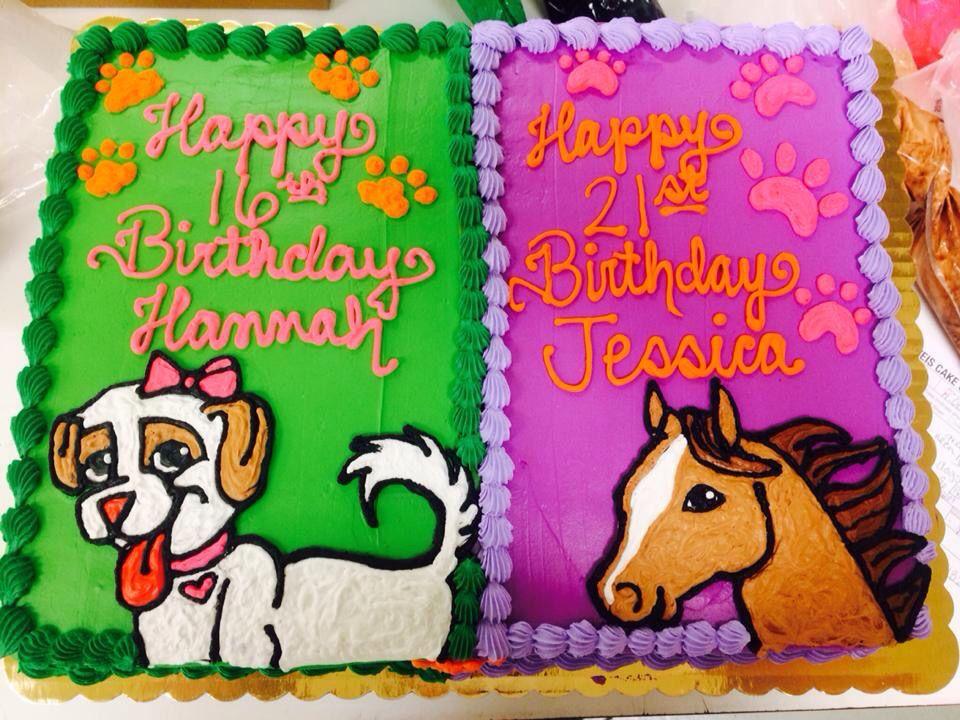 animal birthday cake