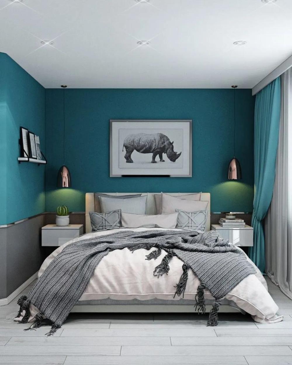 11+ wonderful small apartment bedroom decor ideas 11 ~ INSPIRA