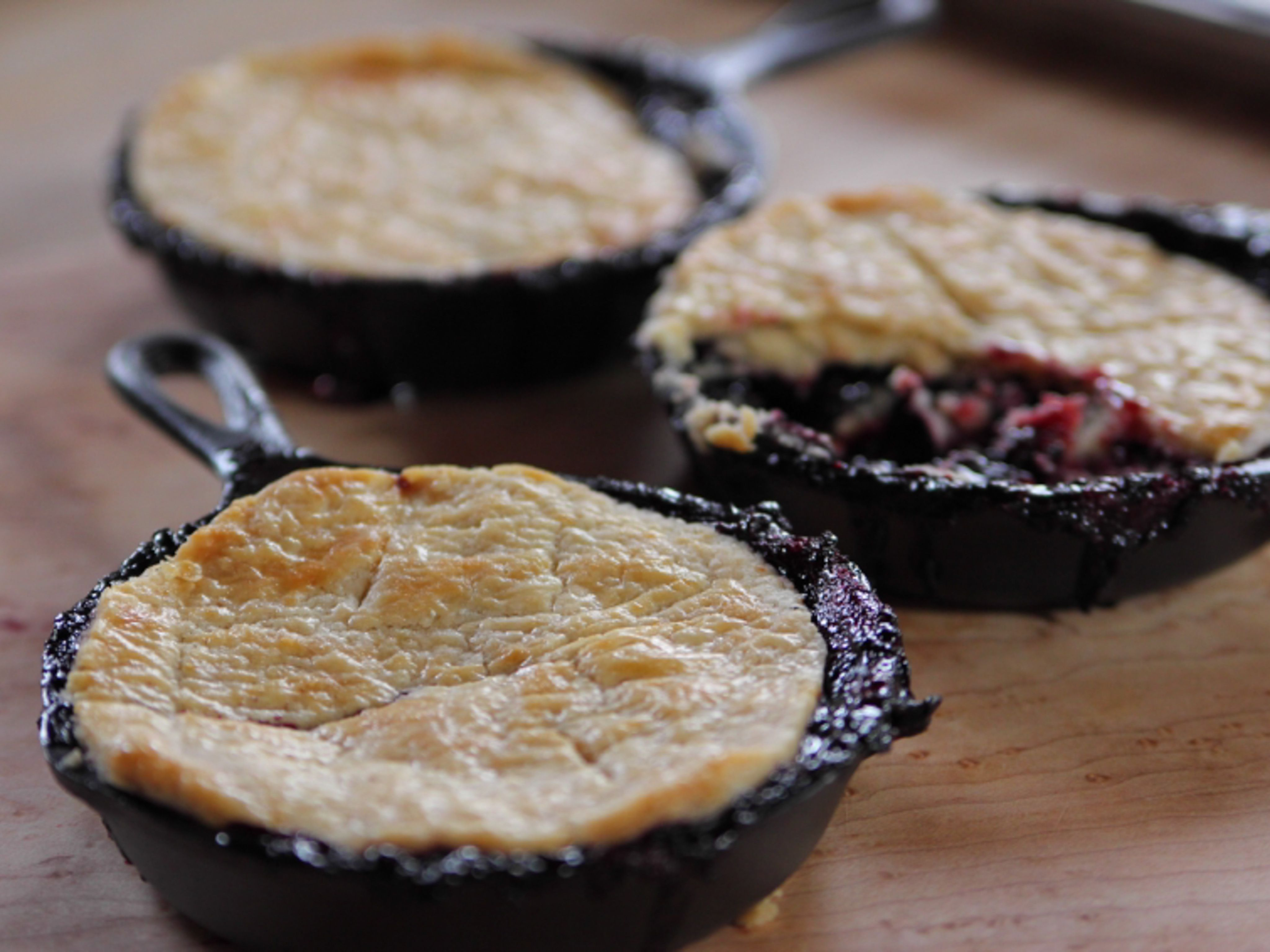 Blackberry Pot Pies