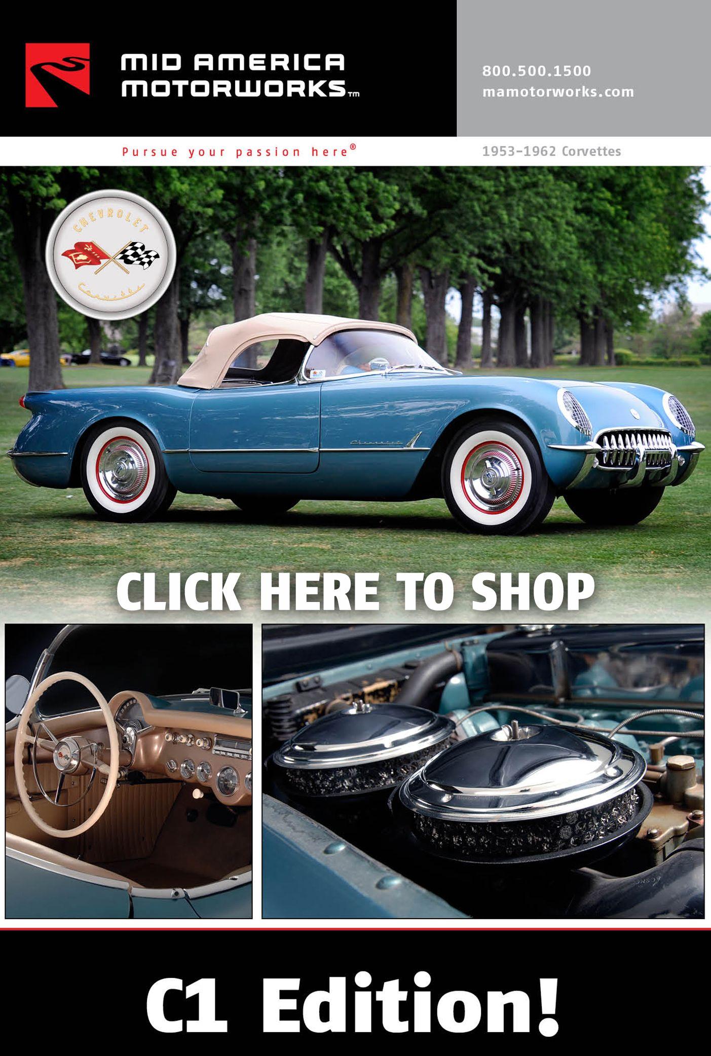 """1953-1962 C1 Corvette """"Click-n-Shop"""" Electronic Catalog"""