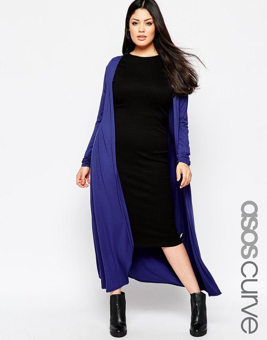 Image 1 of ASOS CURVE Longline Maxi Cardigan | Wear. | Pinterest ...
