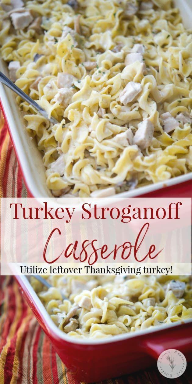 Turkey Stroganoff Casserole