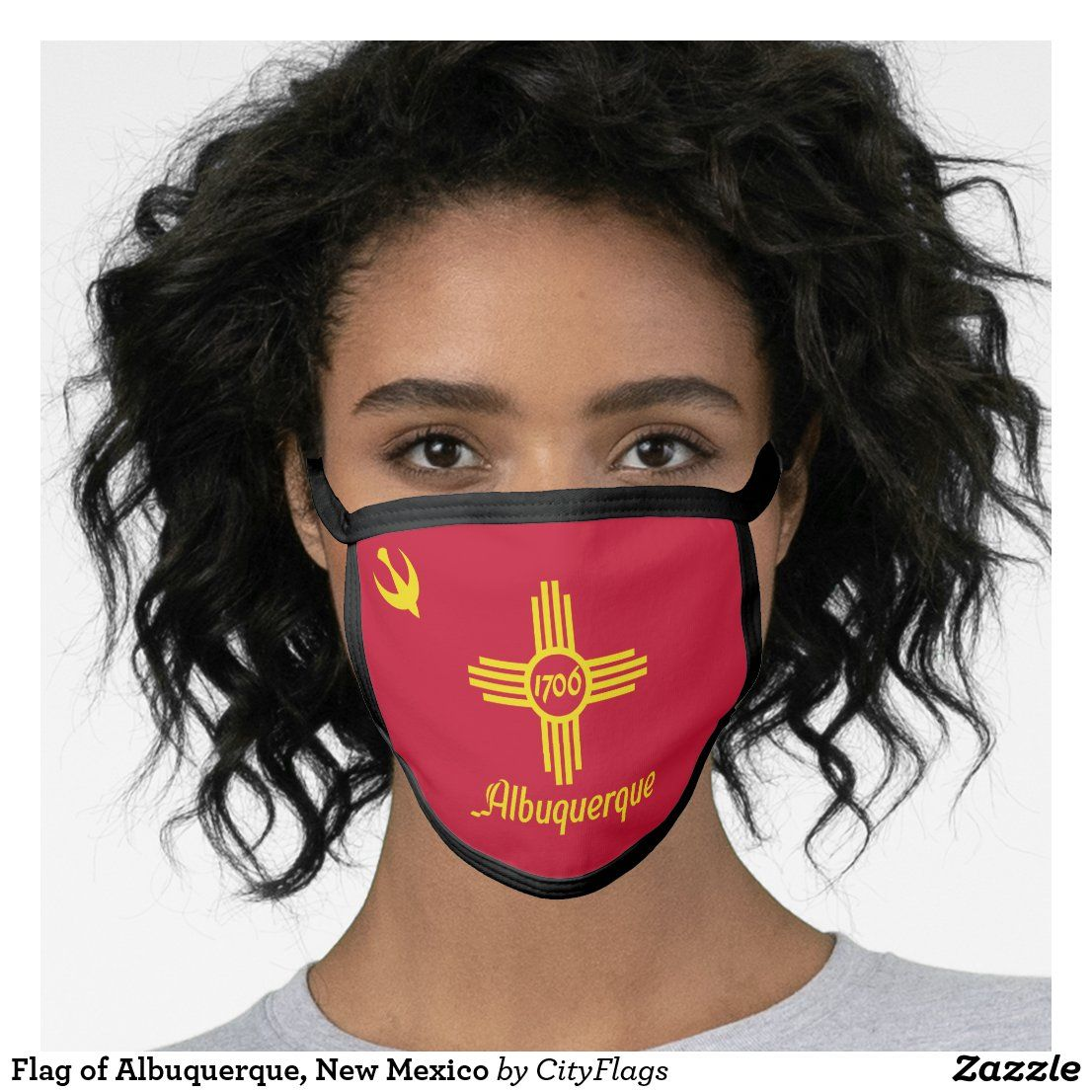 Flag Of Albuquerque New Mexico Face Mask Zazzle Com In 2020 Face New Mexico Personal Protective Equipment