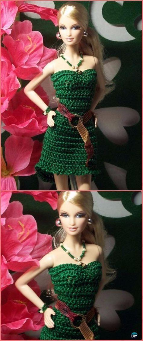 Crochet Barbie High Low Cocktail Dress Free Pattern - Crochet Barbie ...