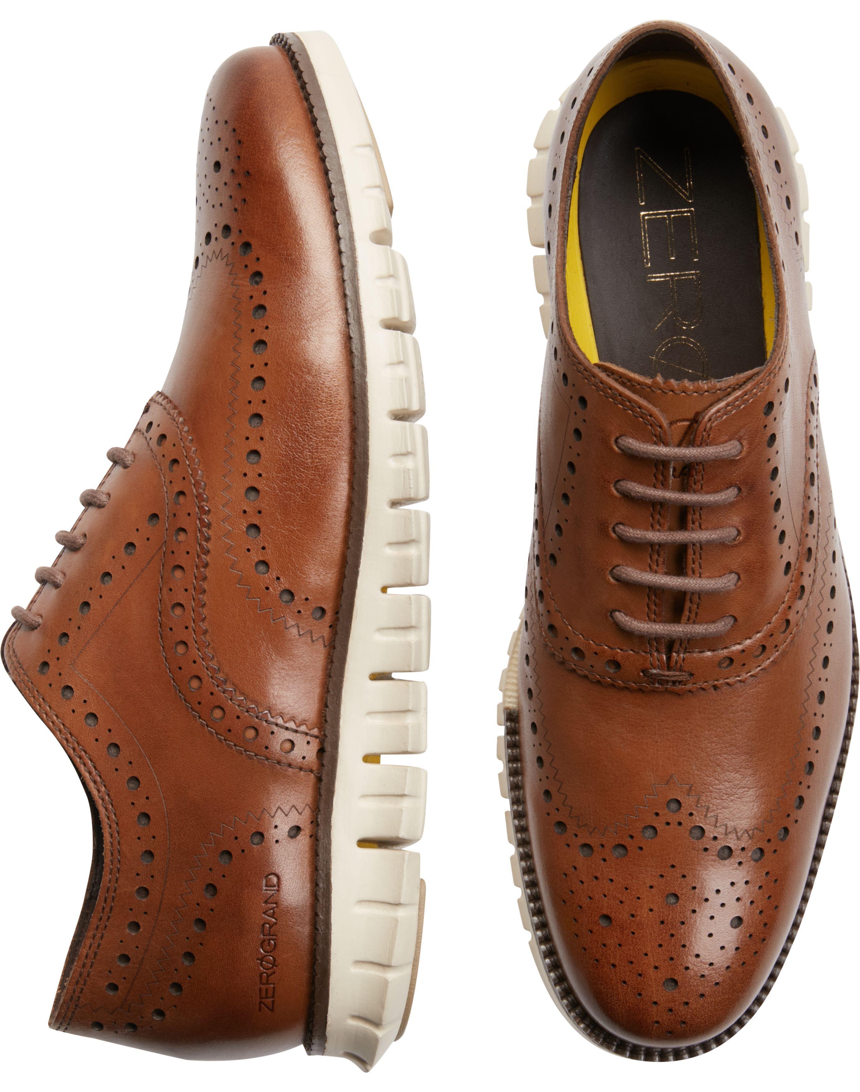 Cole Haan Zerogrand Tan Wingtip Oxfords - Men's Shoes | Men's Wearhouse | Mens  oxfords, Cole haan, Dress shoes men