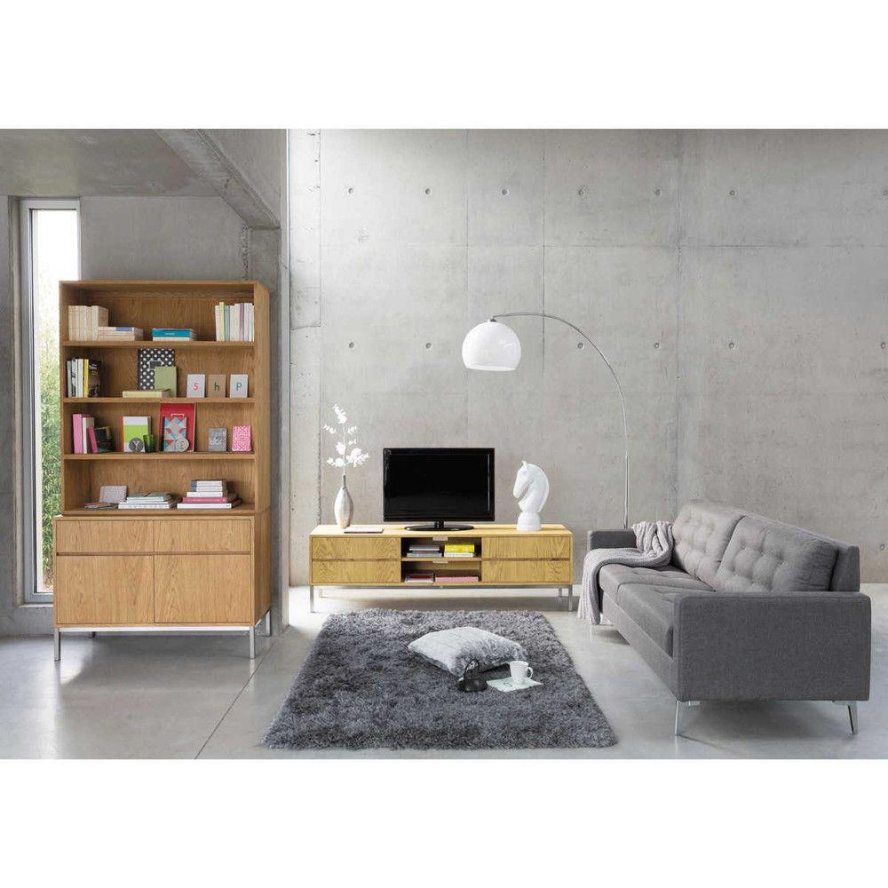 teppich polaire grau 140x200 maisons du monde g stezimmer alfombra gris decoraci n hogar. Black Bedroom Furniture Sets. Home Design Ideas