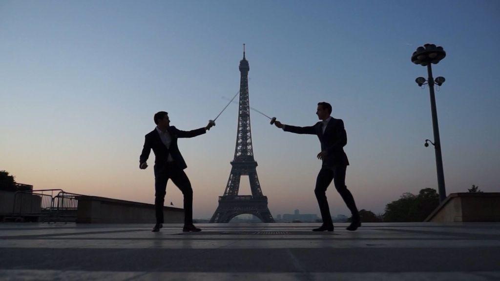 Fencing in Paris. 2 presents in one!