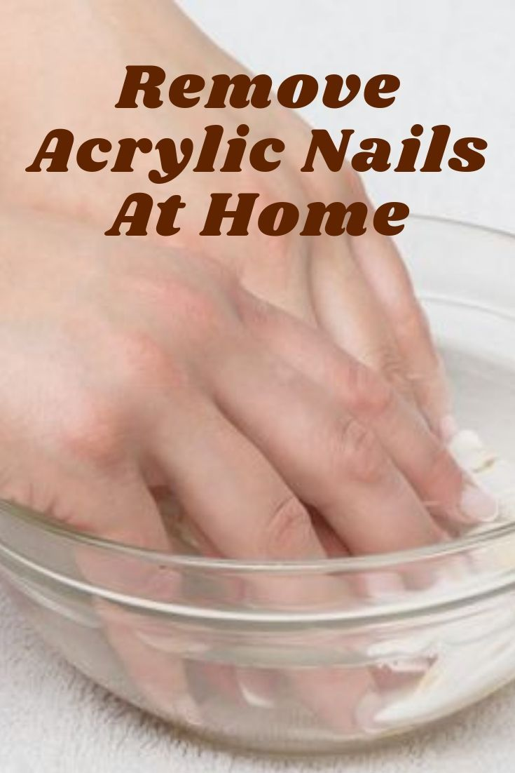 how to remove sns nails at home with acetone