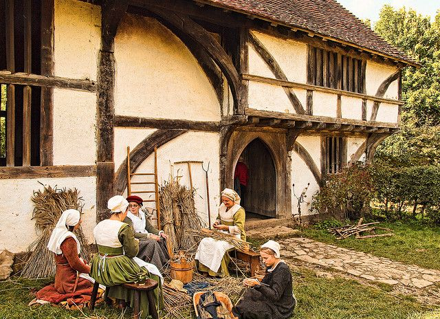 The 15th century Bayleaf Farmhouse at the Weald and