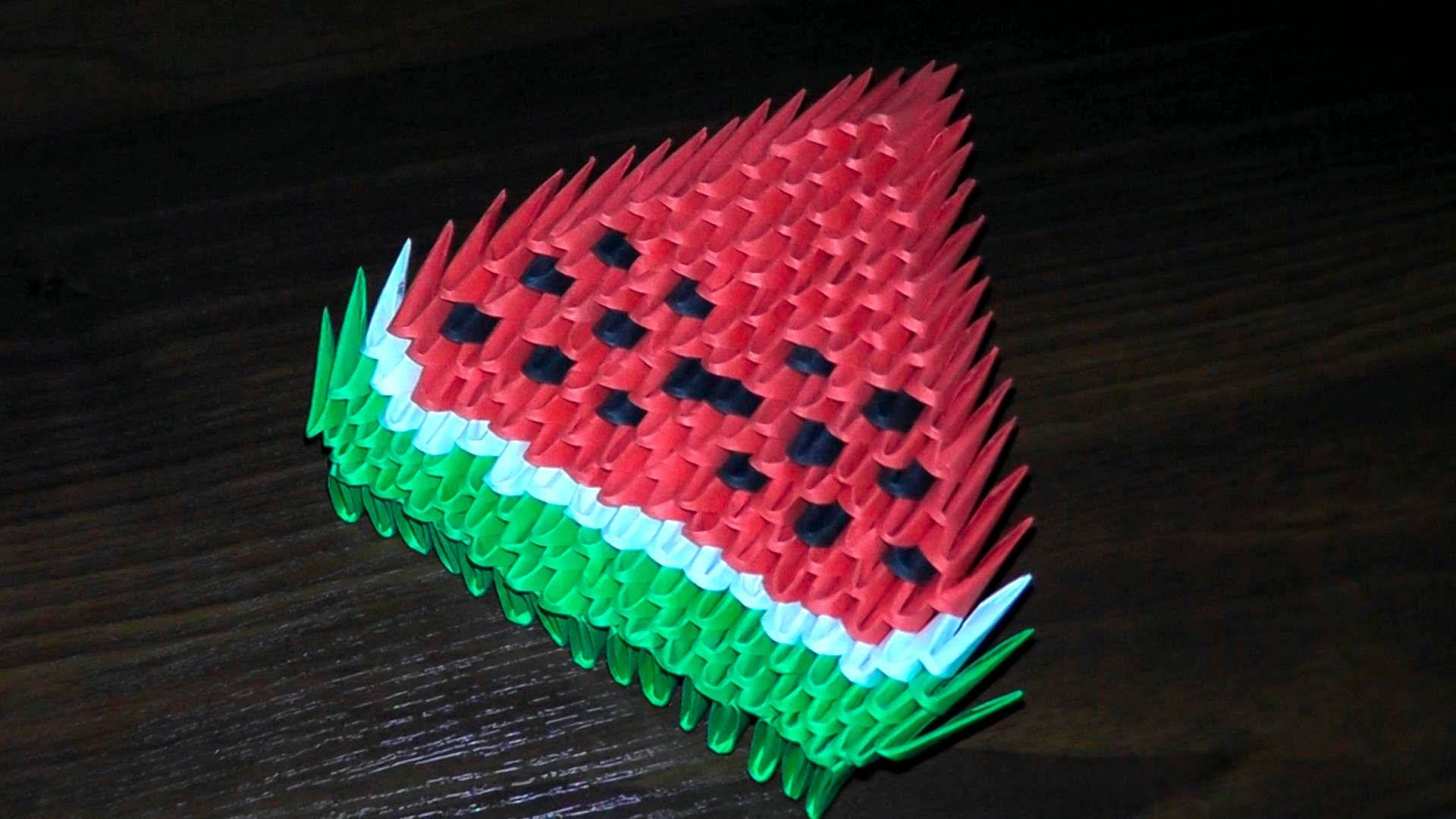 3d origami watermelon for beginners tutorial instructions 3d origami watermelon for beginners tutorial instructions jeuxipadfo Image collections