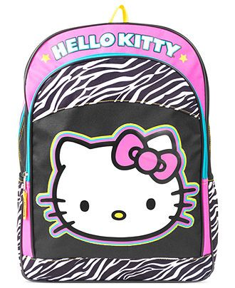 Hello Kitty Kids Backpack, Girls or Little Girls Zebra Backpack - Kids - Macy's