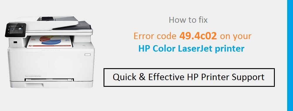 How to troubleshoot the HP Printer error code 49 4c02 This article