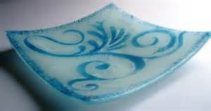 Fusing Patterns in Glass with Stencils