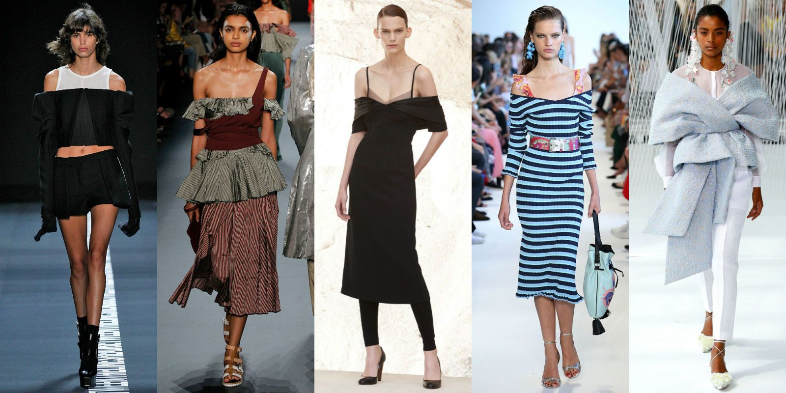 The New Runway-Inspired Way to Wear an Off-the-Shoulder Top