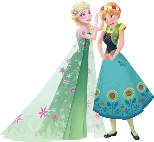Anna and Elsa Frozen Fever by fenixfairy.deviantart.com on @DeviantArt