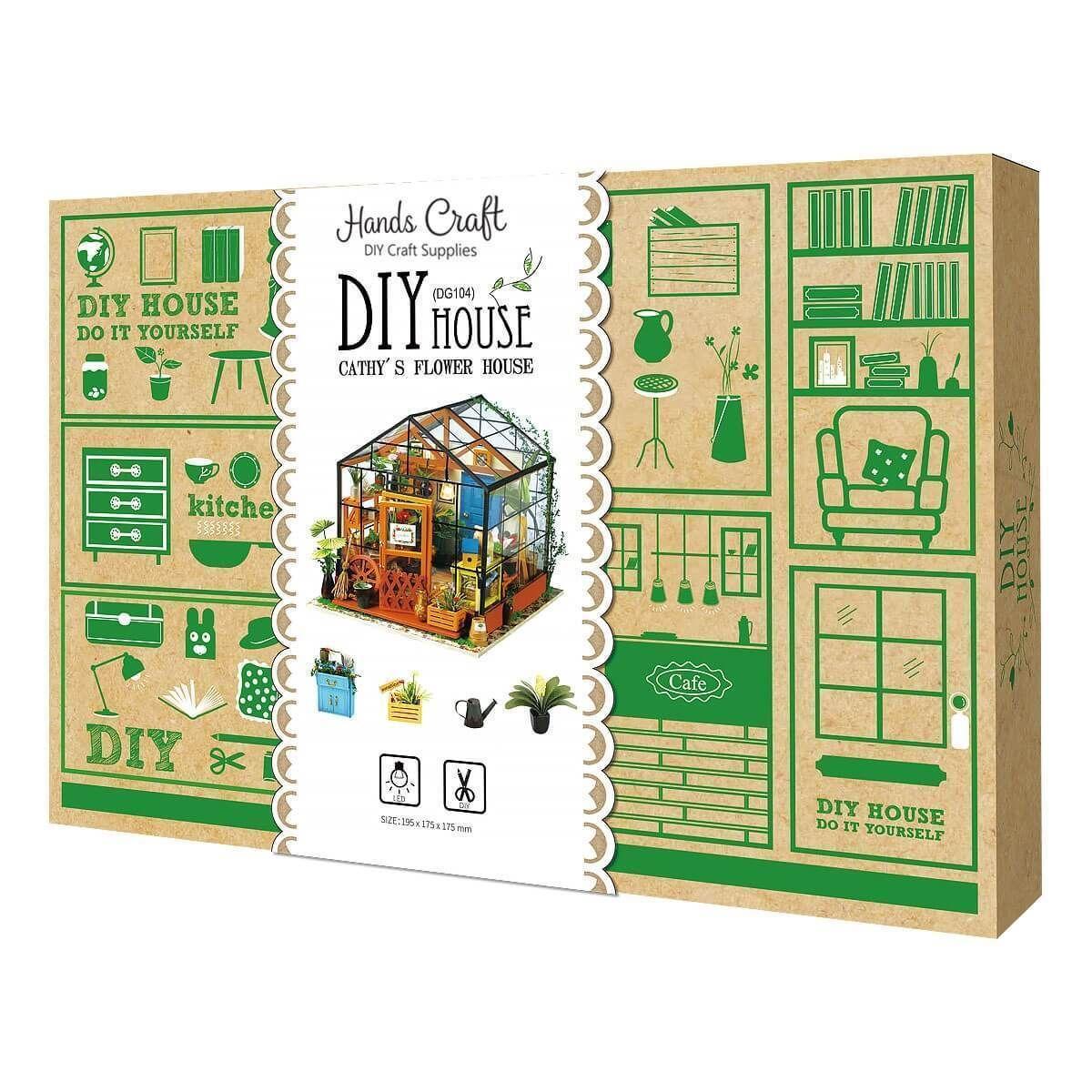 Photo of DIY Miniature Dollhouse Kit: Greenhouse Escape