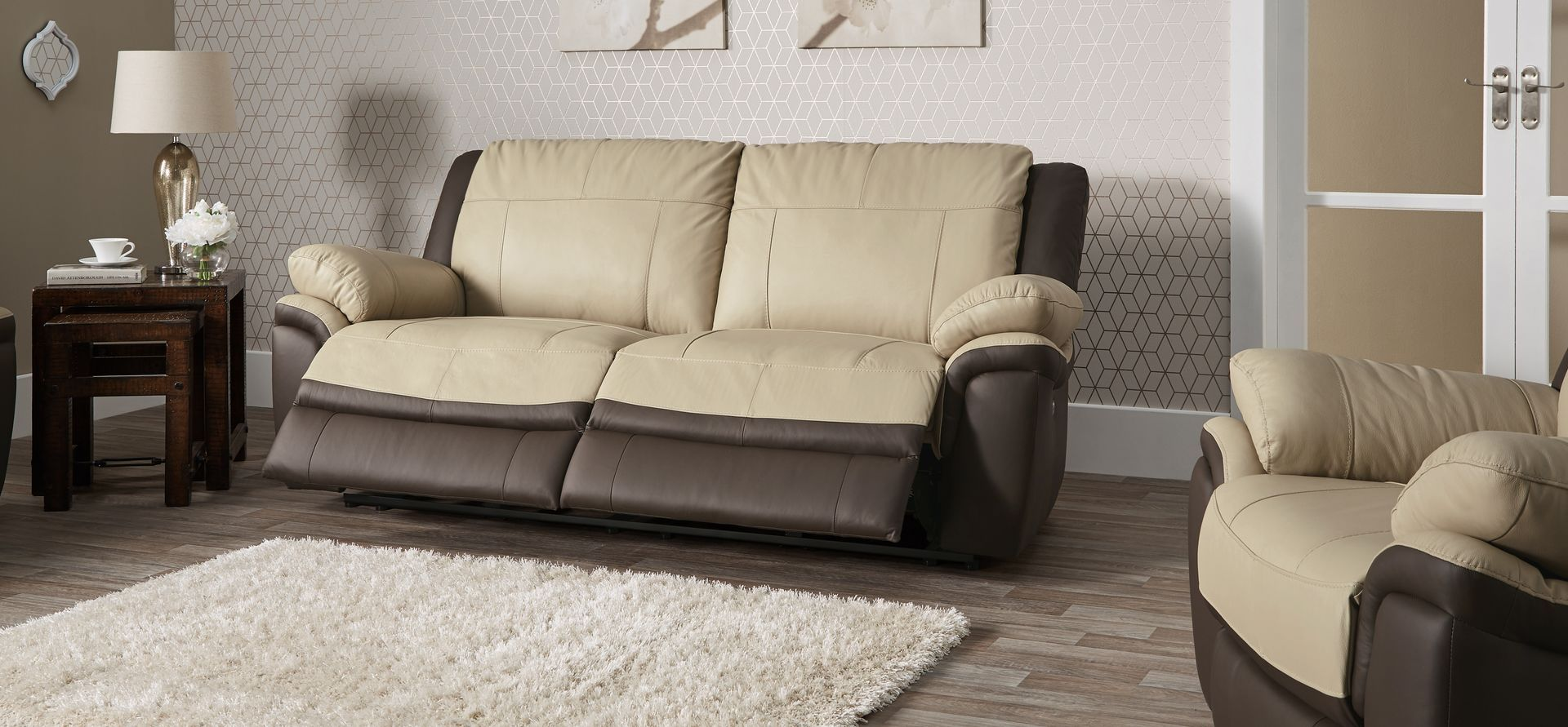 Aries 3 Seater Manual Recliner Sofa Scs Reclining Sofa Furniture Sofa Set Sofa