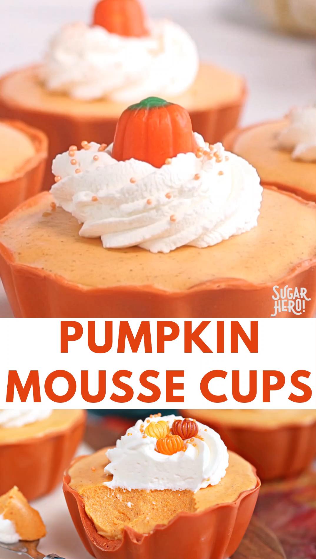 Pumpkin Spice Mousse Cups Video