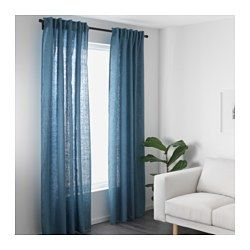 aina rideaux 1 paire bleu bureau pinterest rideaux suspendus le lin et tringle. Black Bedroom Furniture Sets. Home Design Ideas