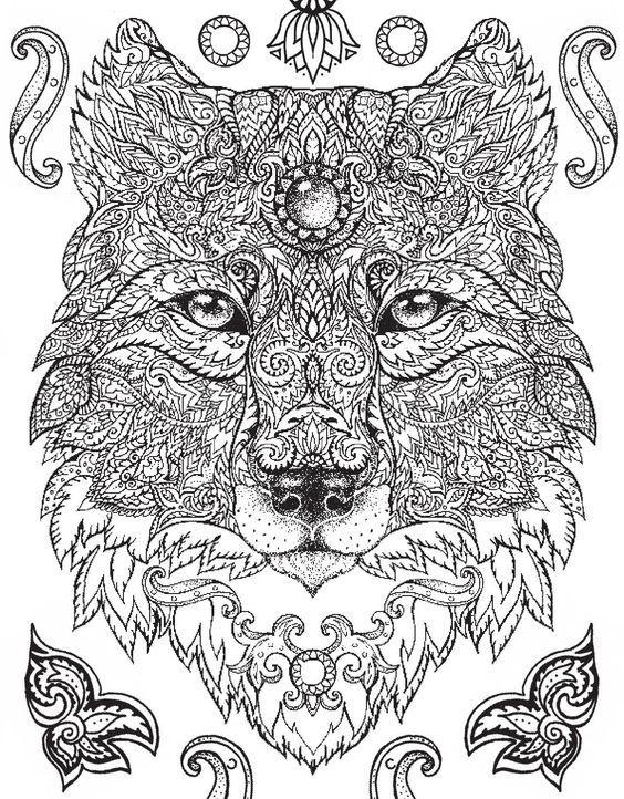 pin von barbara auf coloring wolf fox pinterest ausmalen zentangle und sch ne bilder. Black Bedroom Furniture Sets. Home Design Ideas