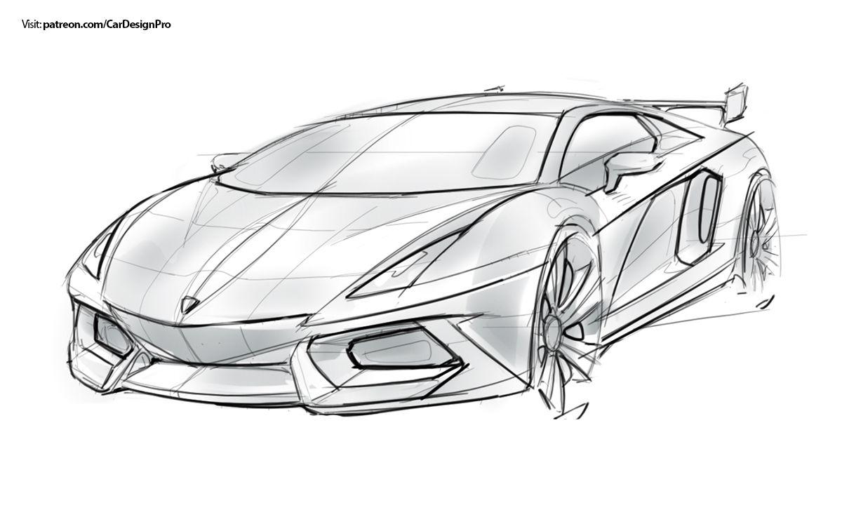 Car Sketches Set 1 15 On Behance Gambar Gambar Pensil
